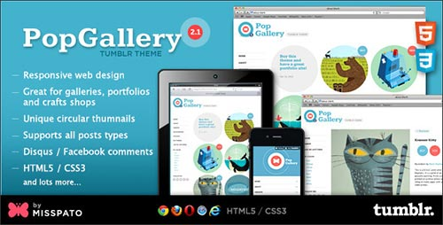 Pop Gallery - Tumblr Themes