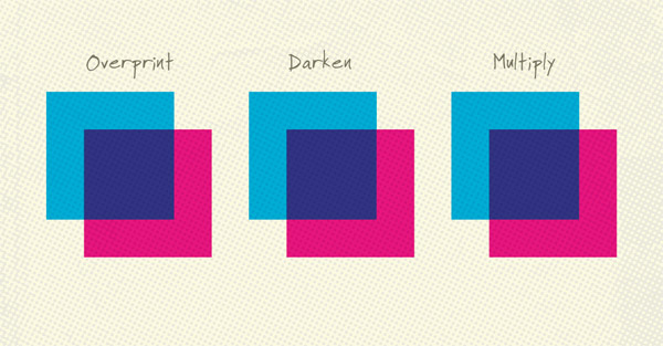 Overprint examples