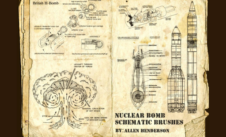 Nuclear Bomb Brush Diagrams