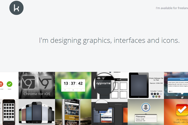 kai halfinger website portfolio layout