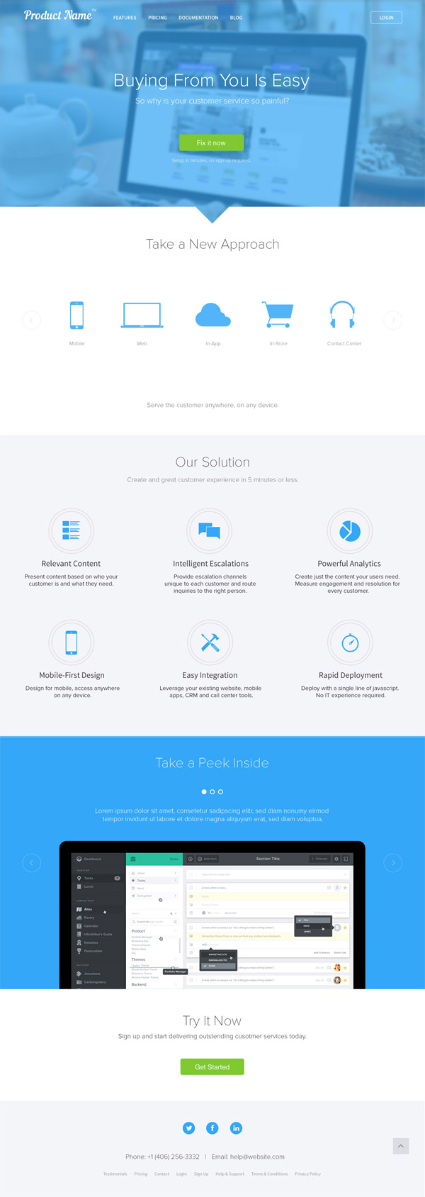 Landing Page for Product Website by Keenan Payne