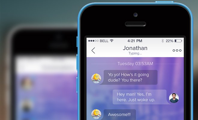 iphone ios7 chat ui design minimalist