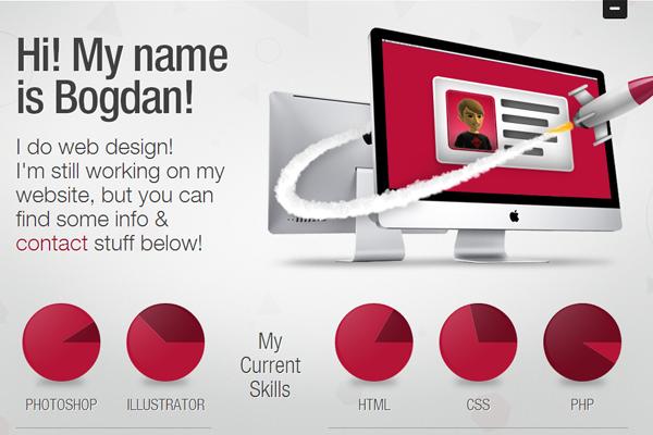 bogdan rosu website portfolio layout