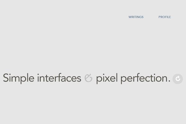 simple minimal portfolio website layout