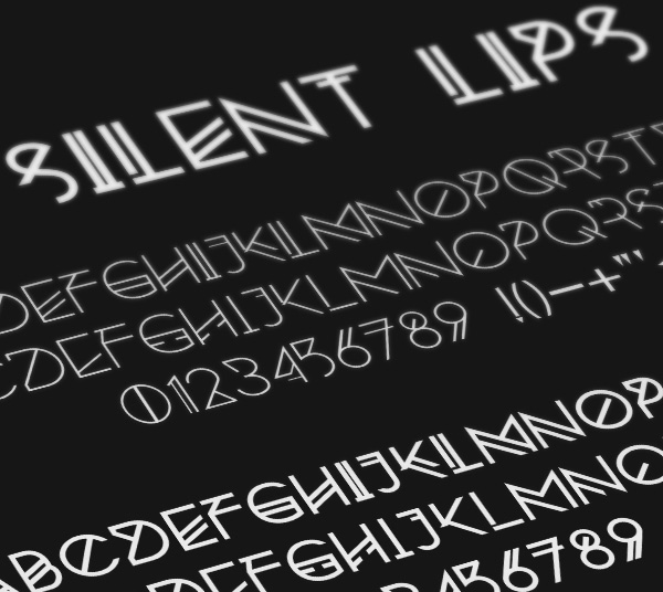 4.Free Font Of The Day  Silent Lips