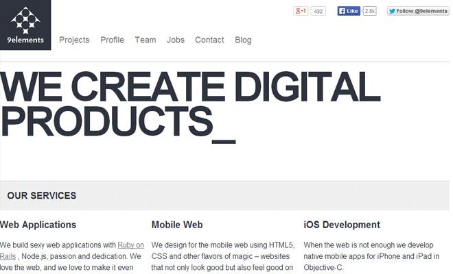 9elements rails developer website layout responsive