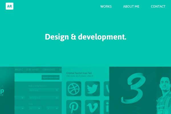 arkadiusz radek website portfolio layout design