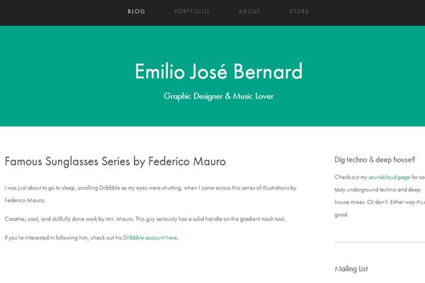 green portfolio emilio jose bernard website