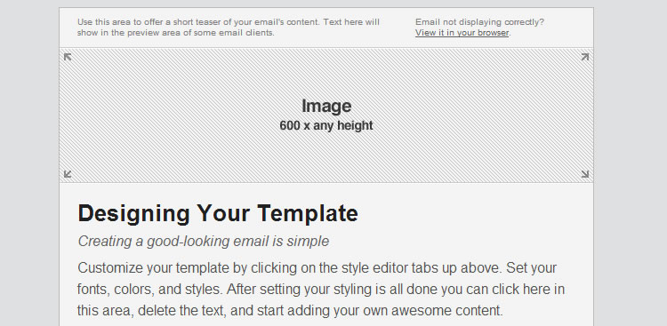 Responsive Email Blueprints from MailChimp template free barebones