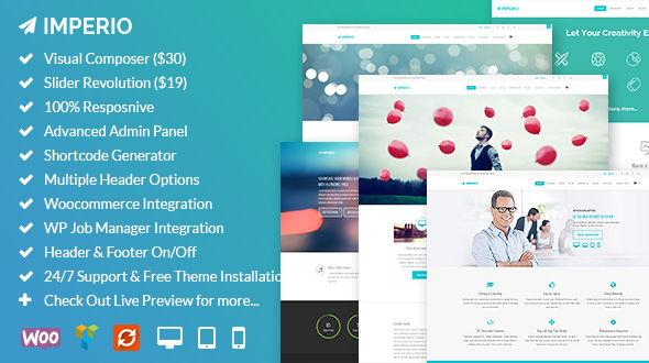 Imperio – Creative Multipurpose Responsive WordPress Theme