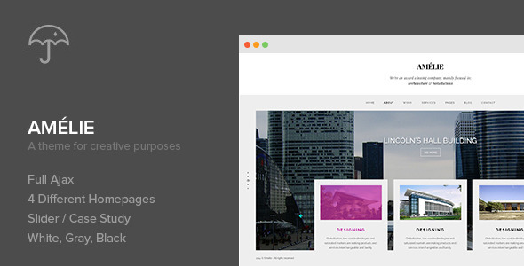 Amelie - WP Theme for Creatives & Photographers