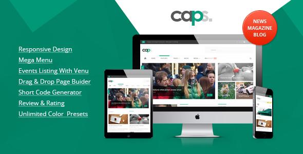 Caps Responsive News/ Magazine WordPress Theme
