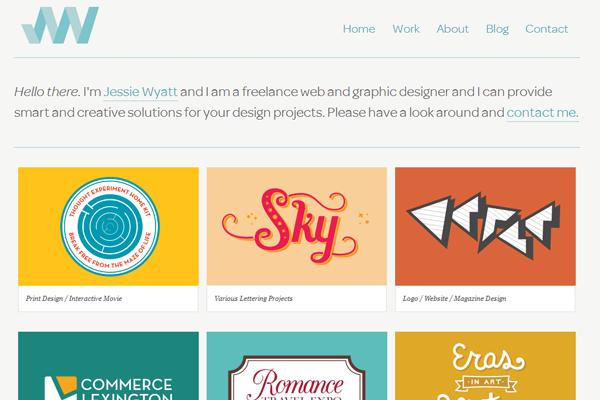 jessie wyatt portfolio website designer