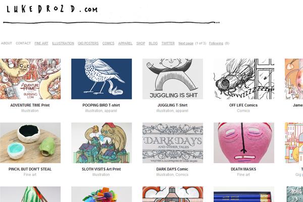 luke drozd portfolio website layout designer