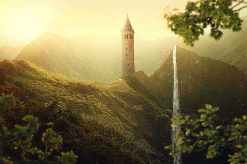 Create a Beautiful Sunrise Landscape Photo Manipulation