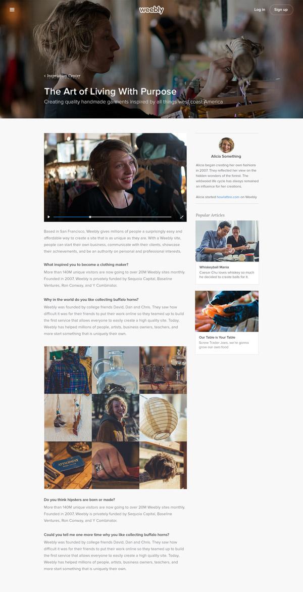Weebly Inspiration Center by Justin Uyemura