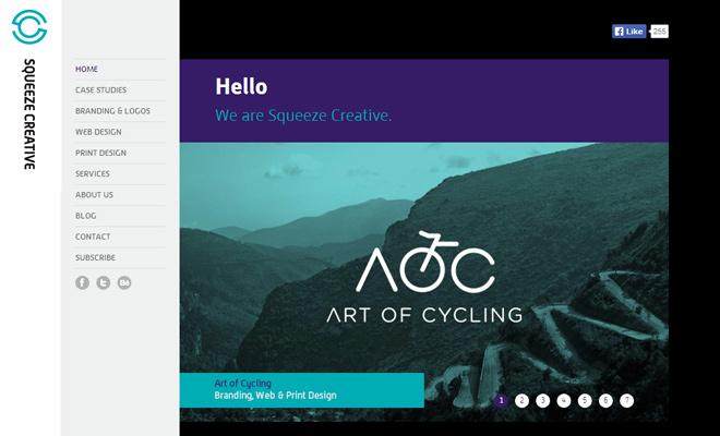 squeeze creative branding portfolio website
