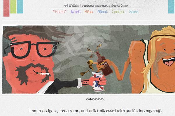 illustration portfolio kirk wallace website