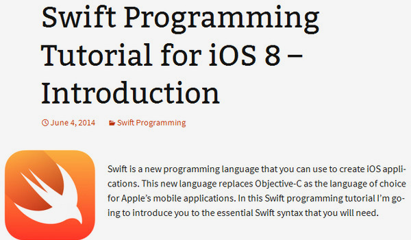 Swift Tutorial