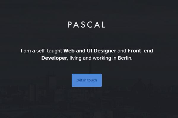 portfolio website layout pascal gartner