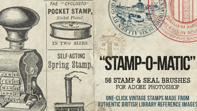 Stamp-O-Matic - Vintage Photoshop Seal and Stamp Brushes