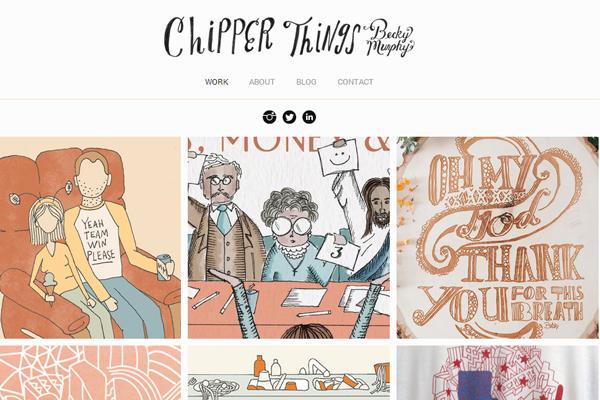 becky murphy website portfolio layout inspiration