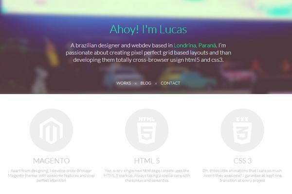 lucas perdidao portfolio website layout