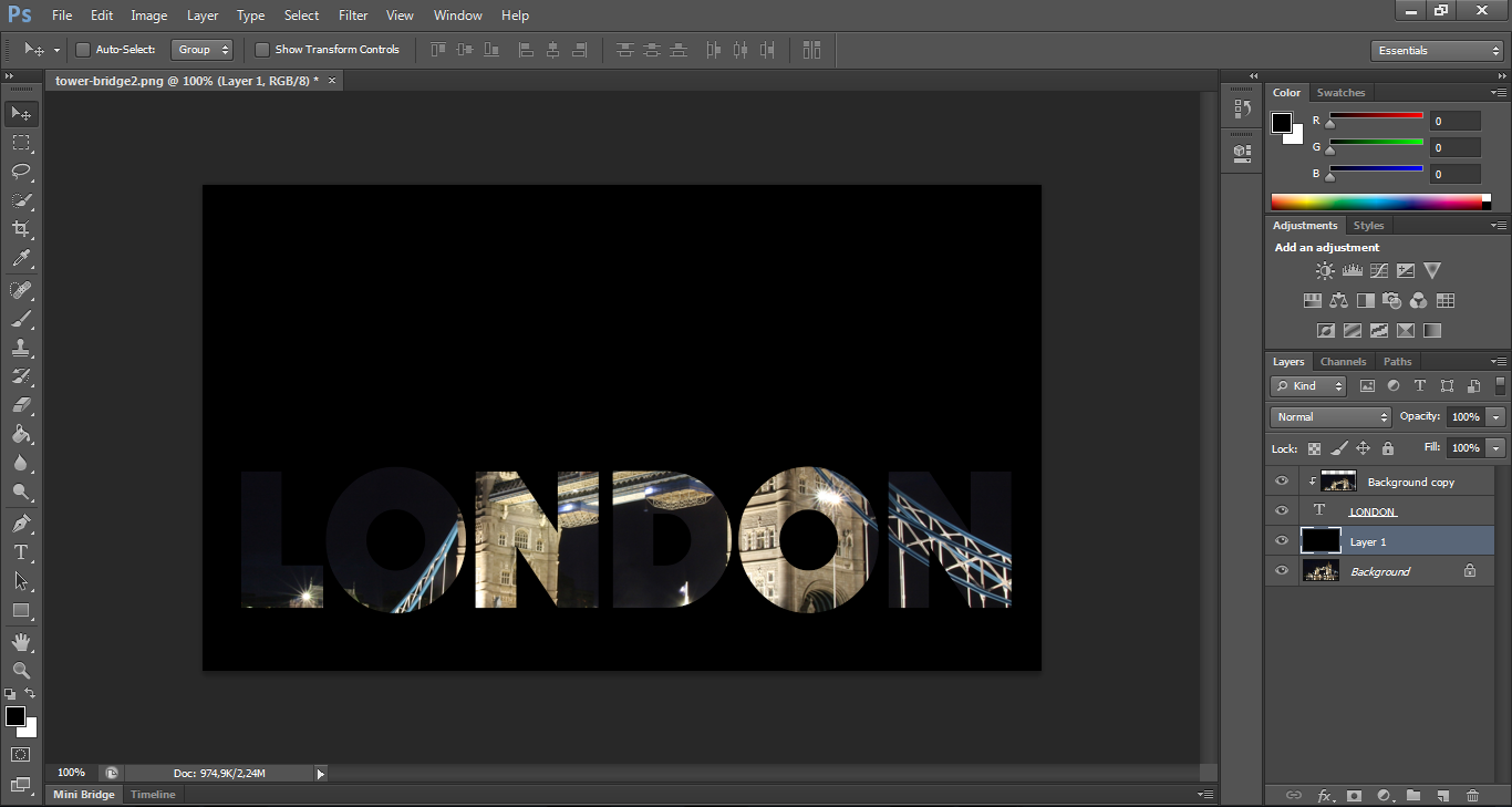 How to Create Photo-filled Text with Photoshop