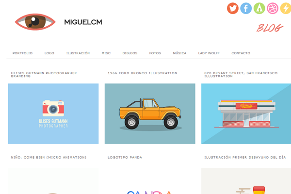 miguel cm portfolio website layout designer