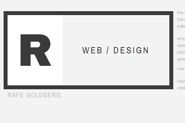rafe goldberg website portfolio layout design