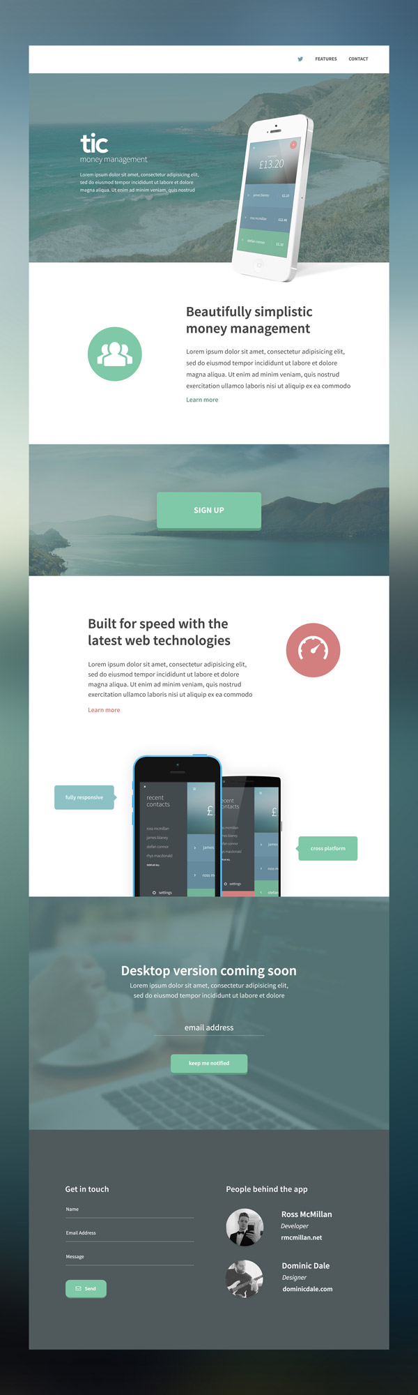 tic Website Design by Dominic Dale