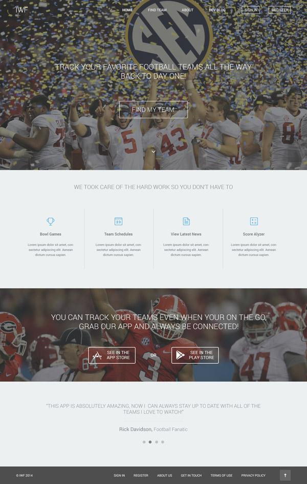 IWF Website Design by Evan Brand