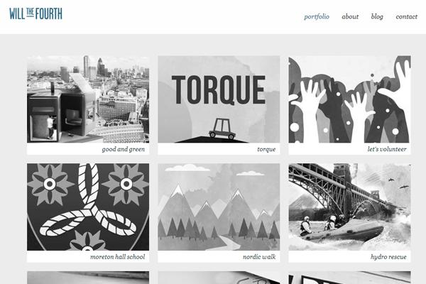 will william gilbert portfolio website layout