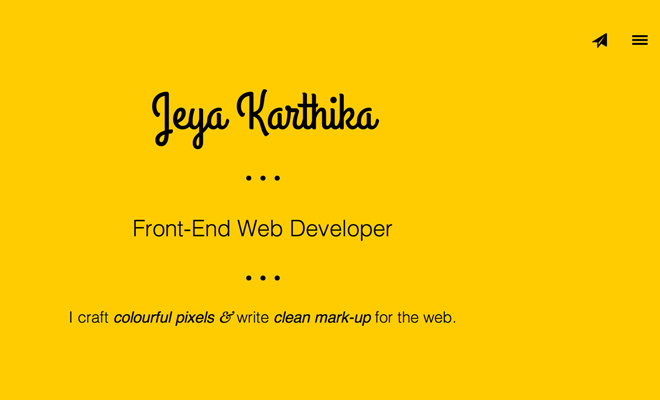 jeya karthika parallax website layout scrolling effect