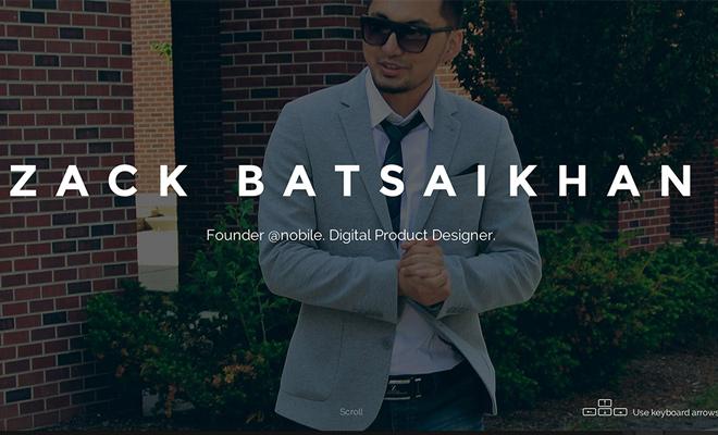 zack batsaikhan digital product designer website portfolio
