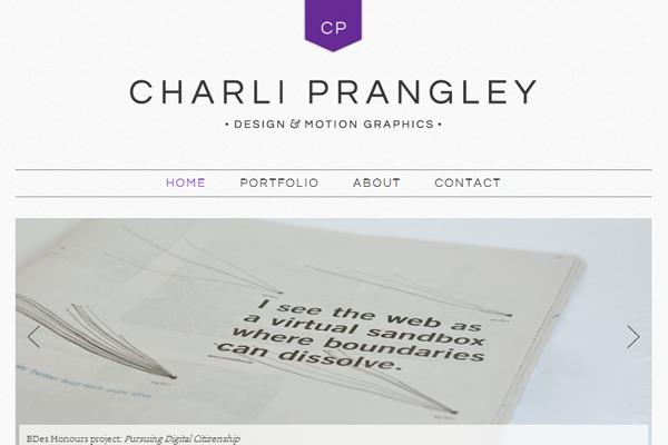 charli prangley portfolio website layout