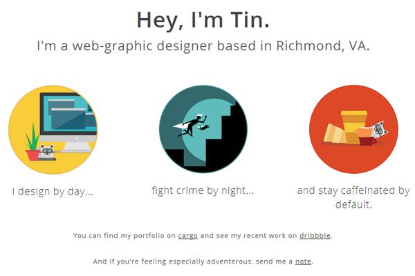 tin nguyen portfolio website layout