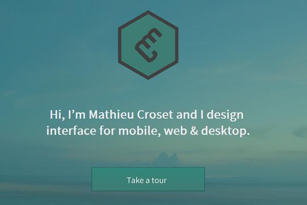 mathieu croset website portfolio designer