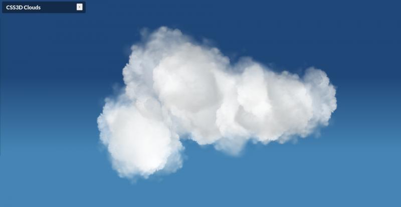 CSS 3D Clouds