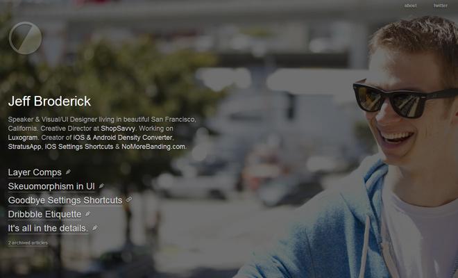 jeff broderick visual ui designer portfolio