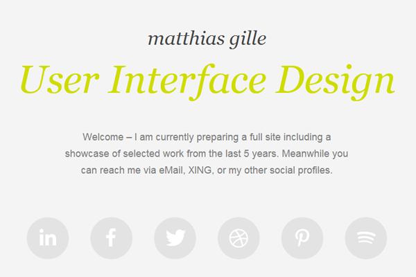 matthias gille website layout portfolio