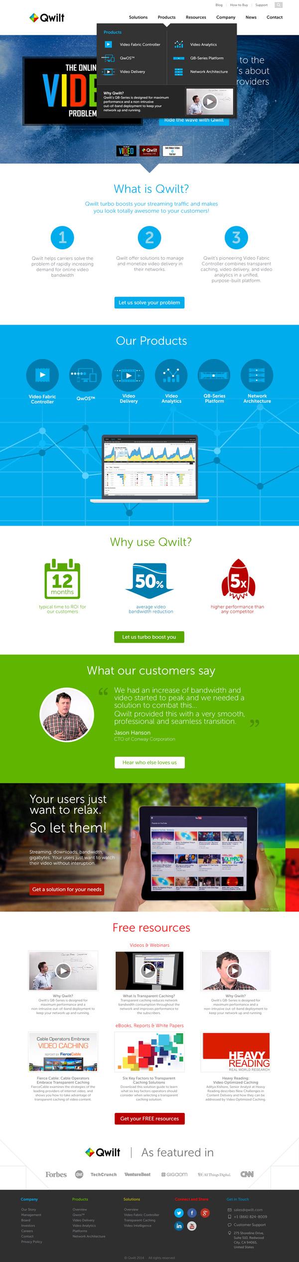 Qwilt Website Redesign by Scott Birnie