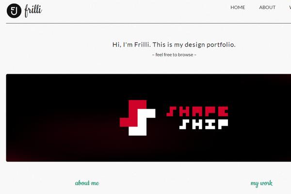 friolaugur jonsson website portfolio layout