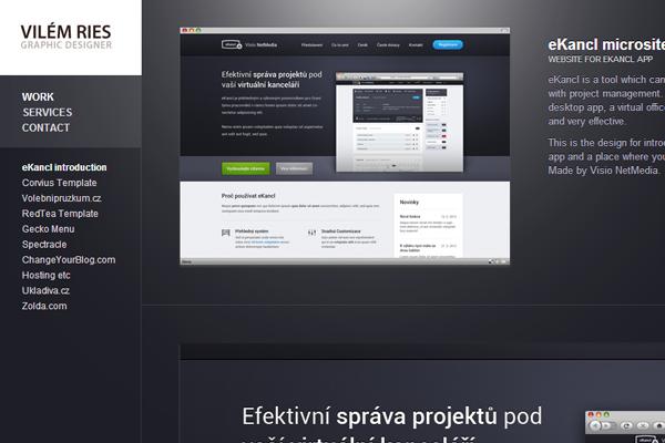 graphic designer portfolio website vilem ries
