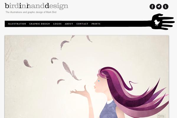 website portfolio layout mark bird illustrator