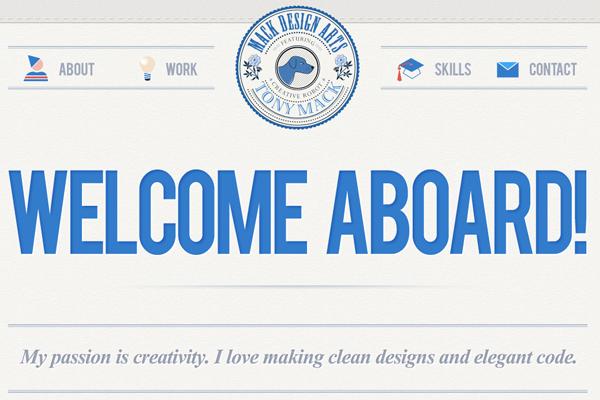 tony mack arts designer portfolio website