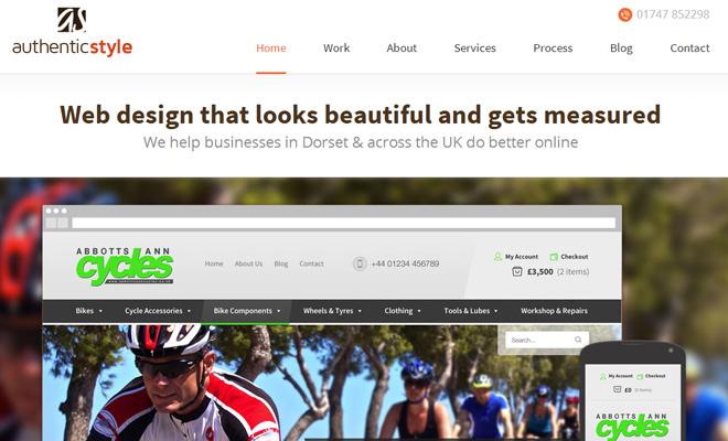 authentic style uk web design portfolio