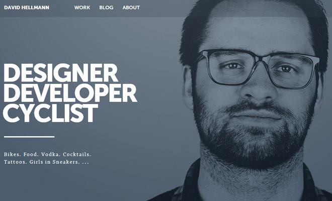 david hellmann dark personal portfolio website