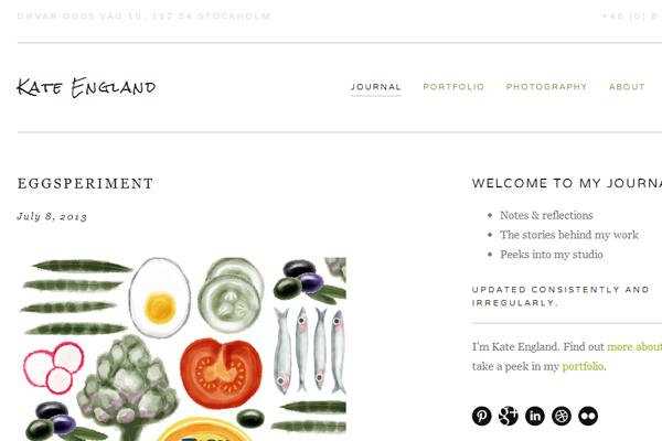 kate england portfolio website designer