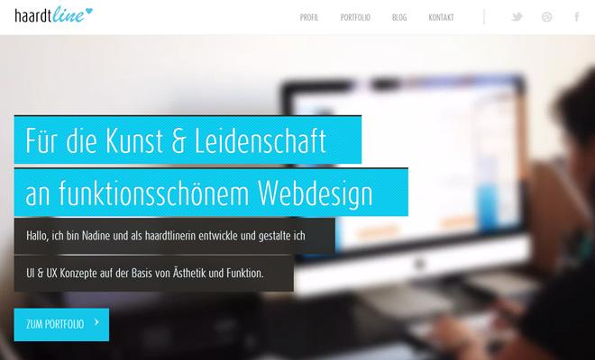 haardtline ui ux design portfolio website